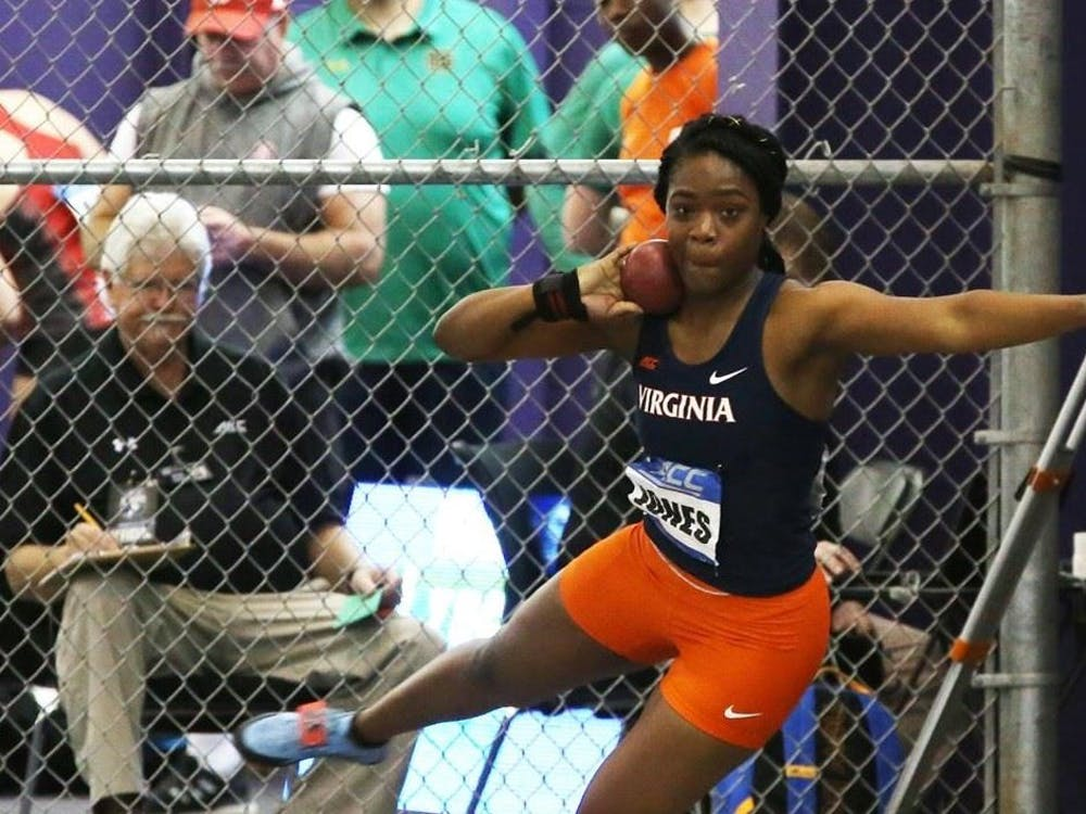 Brittany Jones recorded a career-best throw in the shot put and landed a third-place finish.