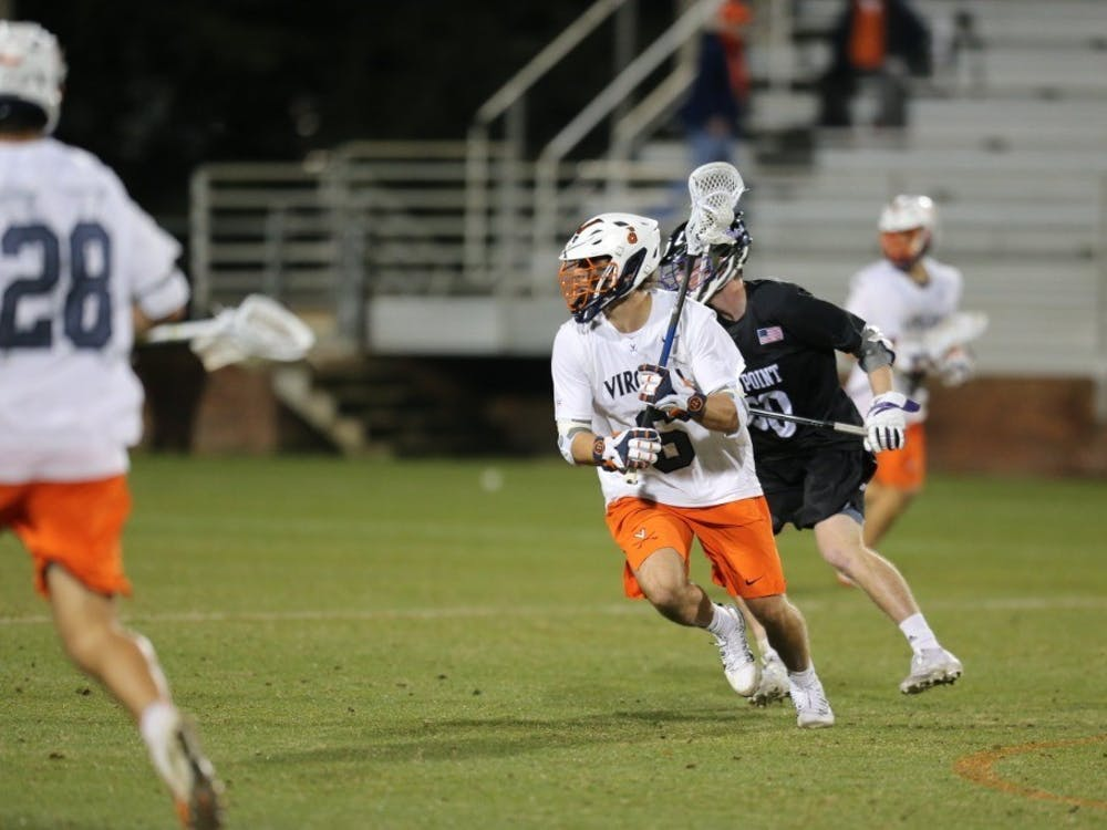 Senior midfielder and captain Dox Aitken had a solid game for the Cavaliers, scoring two goals and securing two ground balls.