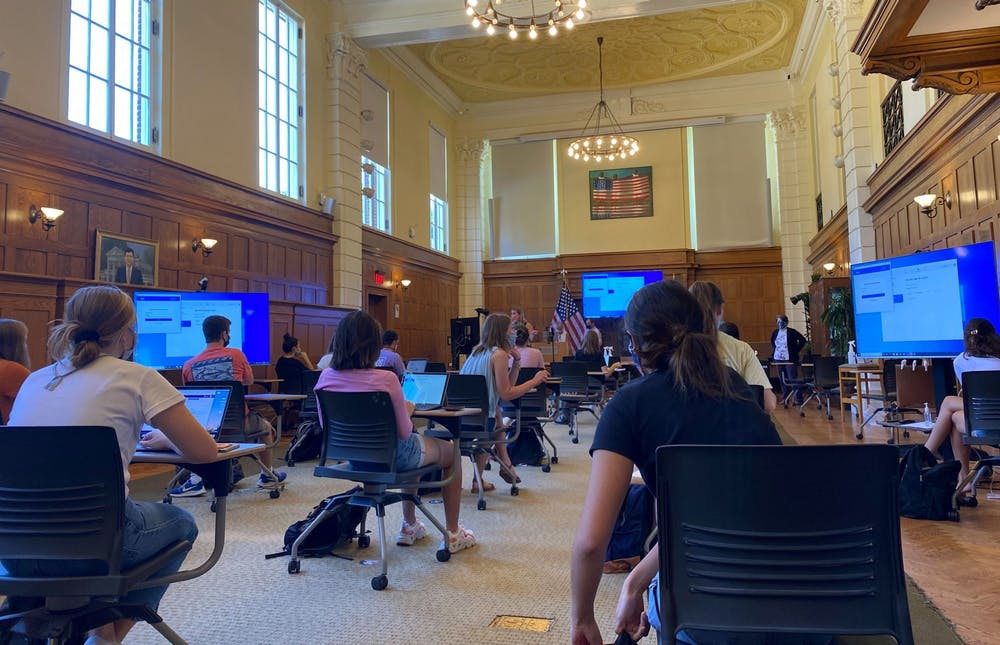 <p>With one full week of in-person class now complete, students reflected on what, for many, had been their first time in a classroom in six months.</p>