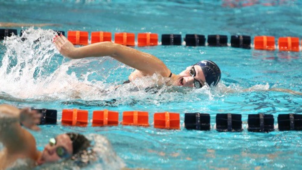 Junior Leah Smith, a four-time NCAA champion, feels positive about qualifying for the 2016 Olympics in Rio de Janeiro.