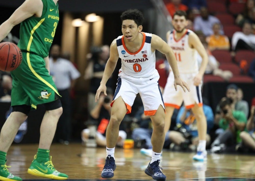 <p>Freshman guard Kihei Clark tied career highs with 12 points and 6 assists against Oregon.</p>