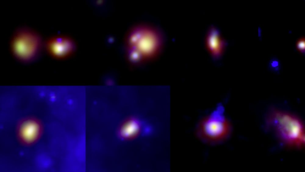Several protostars are shown in the the mid-far infrared spectrum.