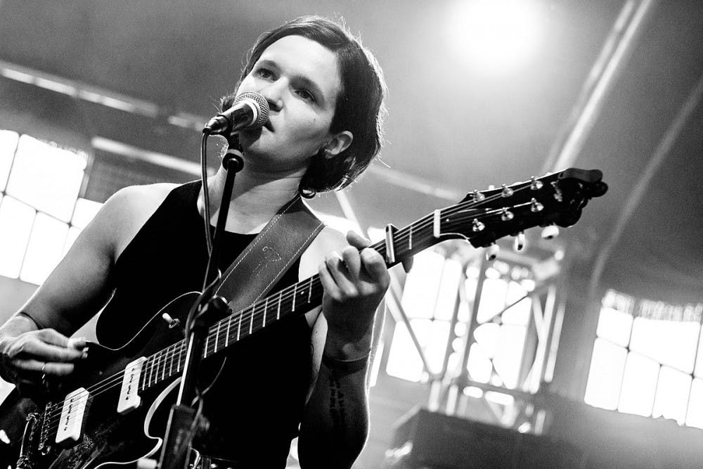 <p>Lead vocalist of Big Thief Adrianne Lenker performing with the band at Haldern Pop Festival in 2018.</p>