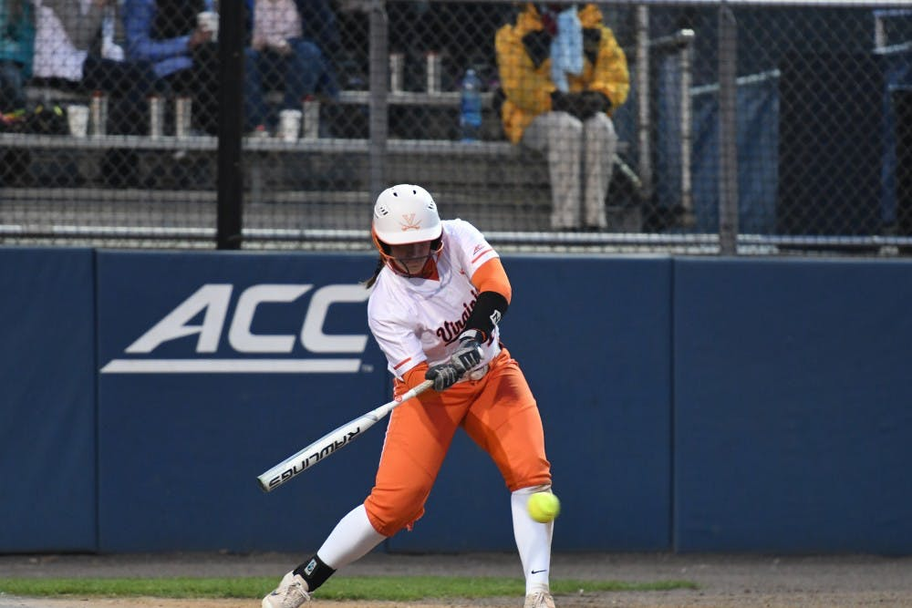 <p>Senior catcher Katie Park is key to Virginia's performance at the plate this season.</p>