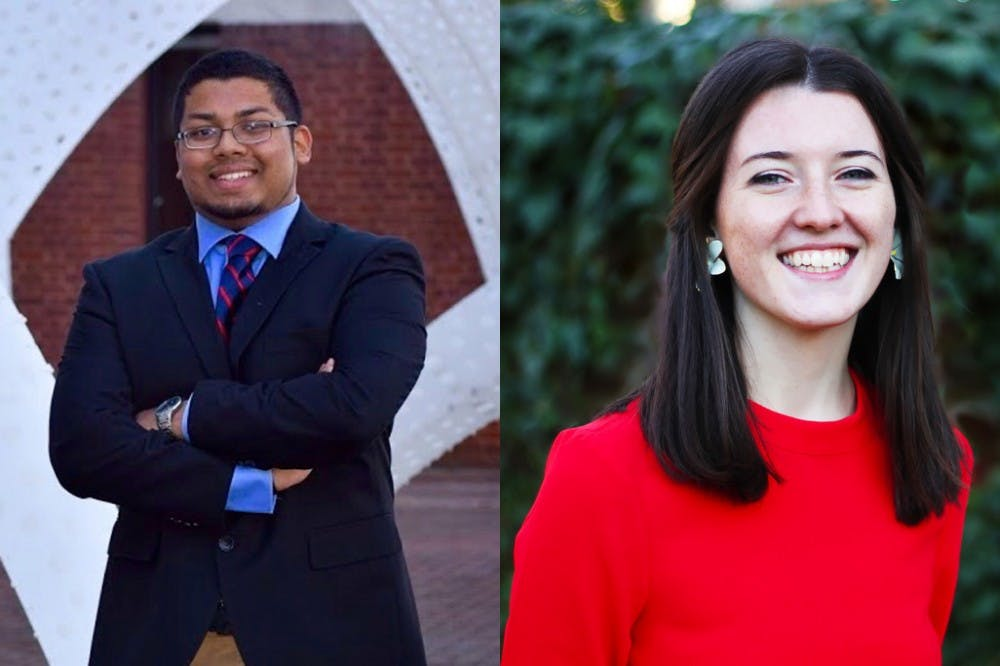 <p>Student Council vice president for administration candidates (from left): Al Ahmed, Sydney Bradley.</p>