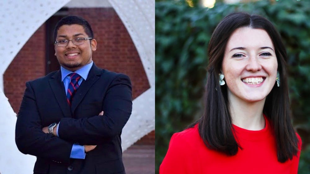Student Council vice president for administration candidates (from left): Al Ahmed, Sydney Bradley.