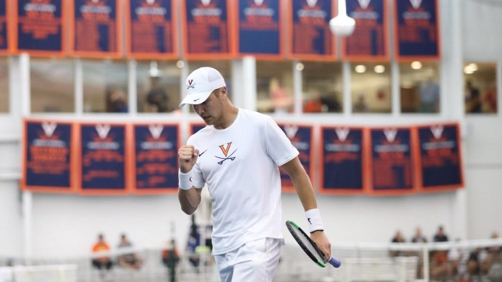 Senior Carl Soderlund won his singles match in straight sets against Boston College but fell to his Central Florida singles opponent in three sets.