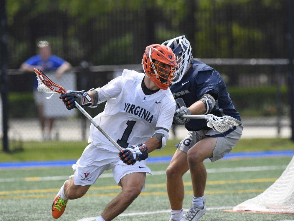 Redshirt freshman attackman Connor Shellenberger paced the Cavaliers with a career outing, netting six goals.