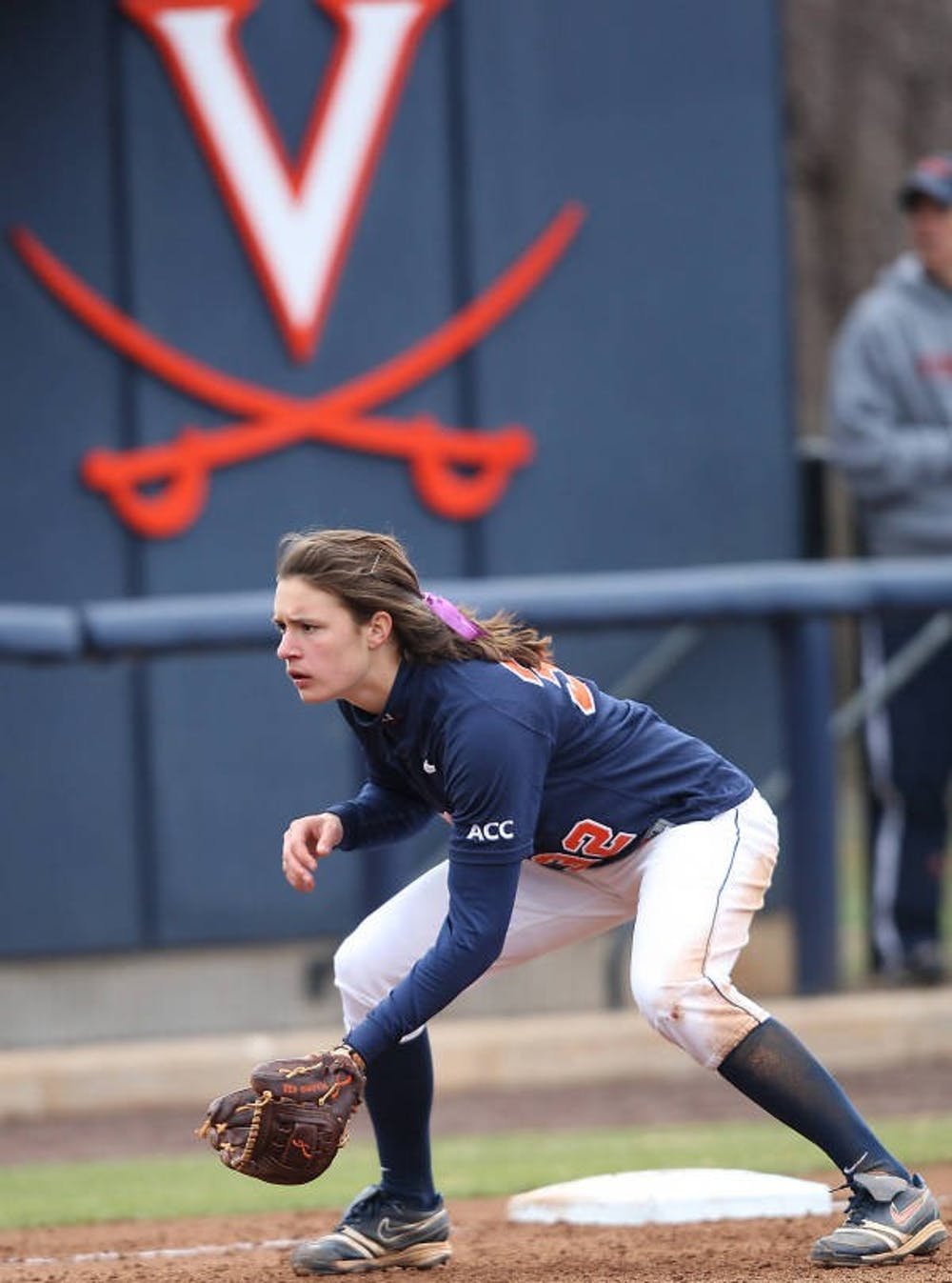 <p>Junior first baseman Megan Harris and Virginia softball team will look to record a pair of wins Wednesday evening against Delaware State. Harris has started every one of the Cavaliers&#8217; 36 games. </p>