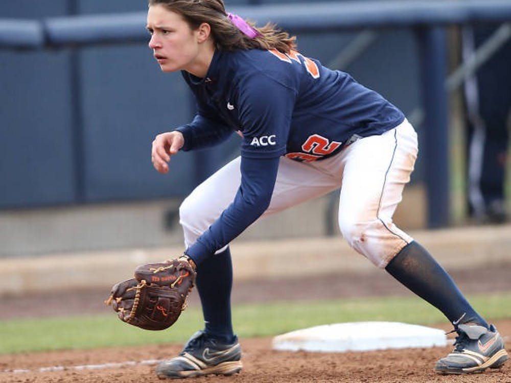 Junior first baseman Megan Harris and Virginia softball team will look to record a pair of wins Wednesday evening against Delaware State. Harris has started every one of the Cavaliers' 36 games.