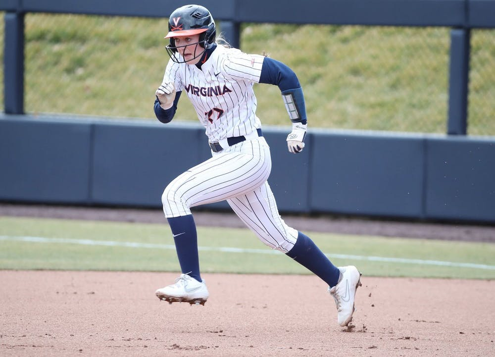 <p>Sophomore infielder Katie Goldberg run in the first game against Boston College locked up a 1-0 win for the Cavaliers.&nbsp;</p>
