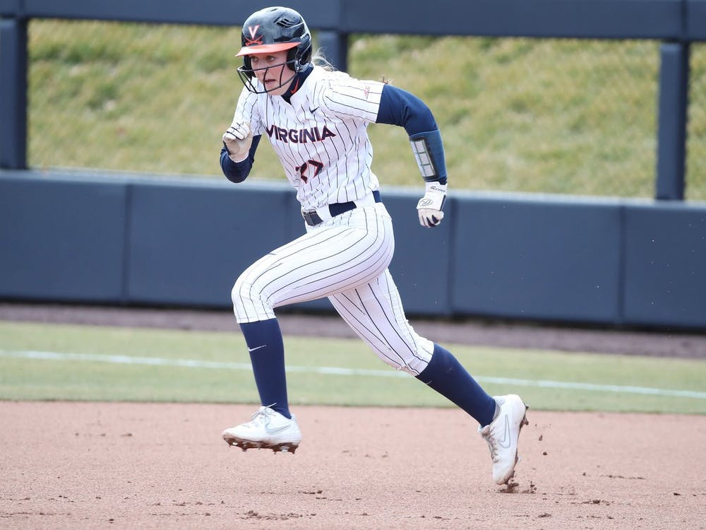 Sophomore infielder Katie Goldberg run in the first game against Boston College locked up a 1-0 win for the Cavaliers.