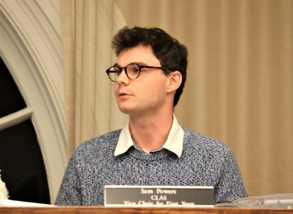 <p>Sam Powers (Pictured) is a third-year College student and is the University Judiciary Committee vice chair for first-years.</p>