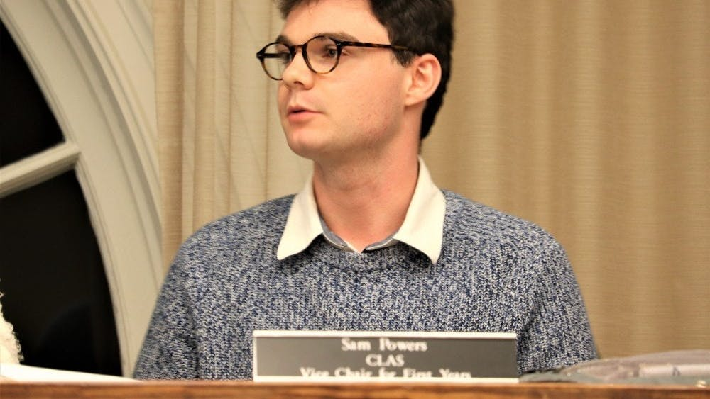 Sam Powers (Pictured) is a third-year College student and is the University Judiciary Committee vice chair for first-years.
