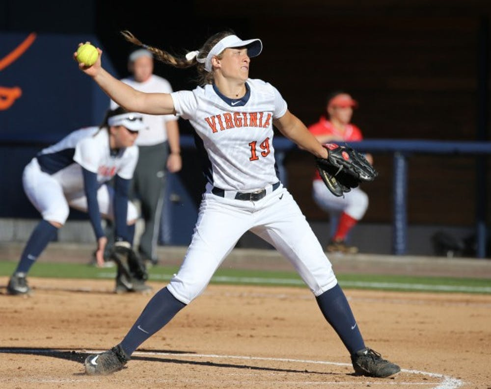 <p>Freshman pitcher Erika Osherow, a bright spot for Virginia this season,&nbsp;struggled on the mound, surrendering five homers&nbsp;during&nbsp;Virginia Tech's 15-0 win in the second game of the series.</p>