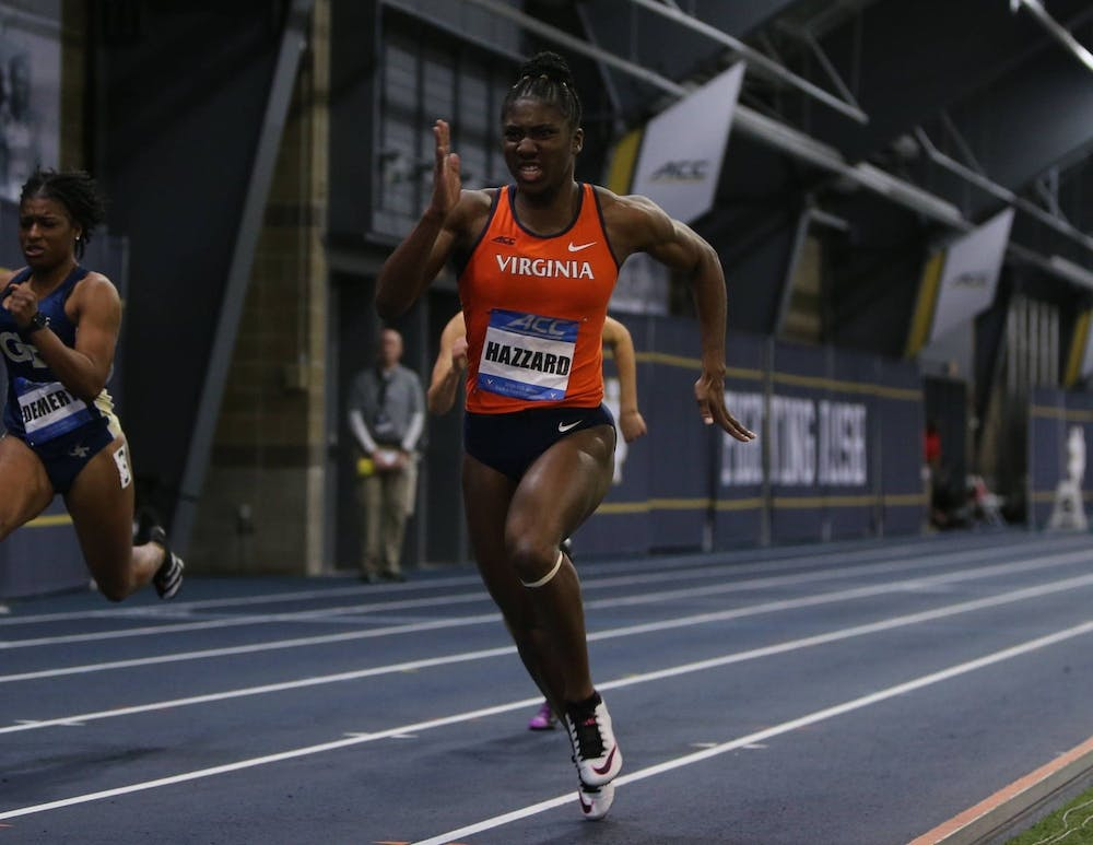 <p>Senior Halle Hazzard had an outstanding start to her indoor season, placing first in the 60-meter and 300-meter dash events.&nbsp;</p>