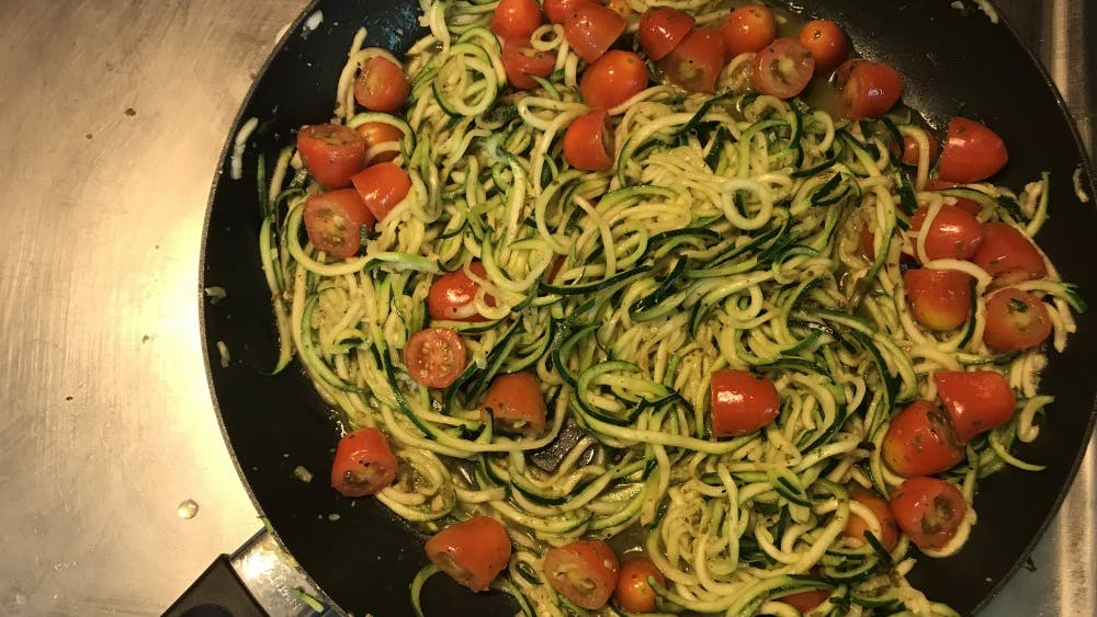 Zoodles are much lower in calories and carbs than traditional pasta.