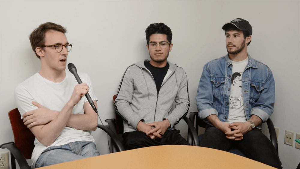 Arts and Entertainment had the opportunity to sit down with three members of the four-person group — third-years Evan Frolov, Marshall Perfetti and Ever Hernandez.