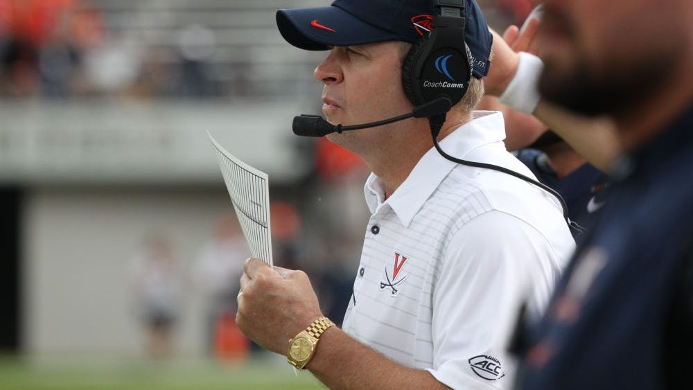 Virginia Coach Bronco Mendenhall delivered an unscheduled speech in front of the University Board of Visitors last Friday.