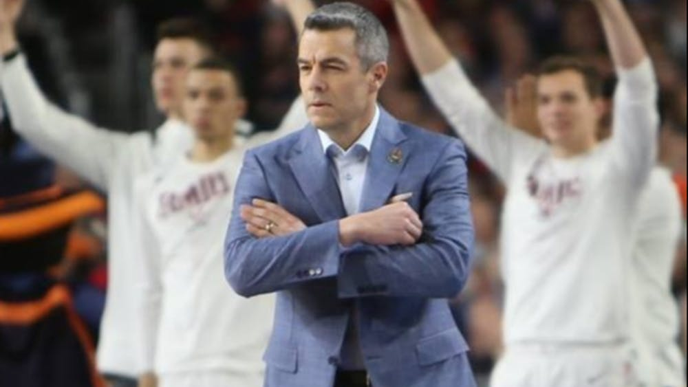 Coach Tony Bennett led the Cavaliers from a historic loss to a historic victory.