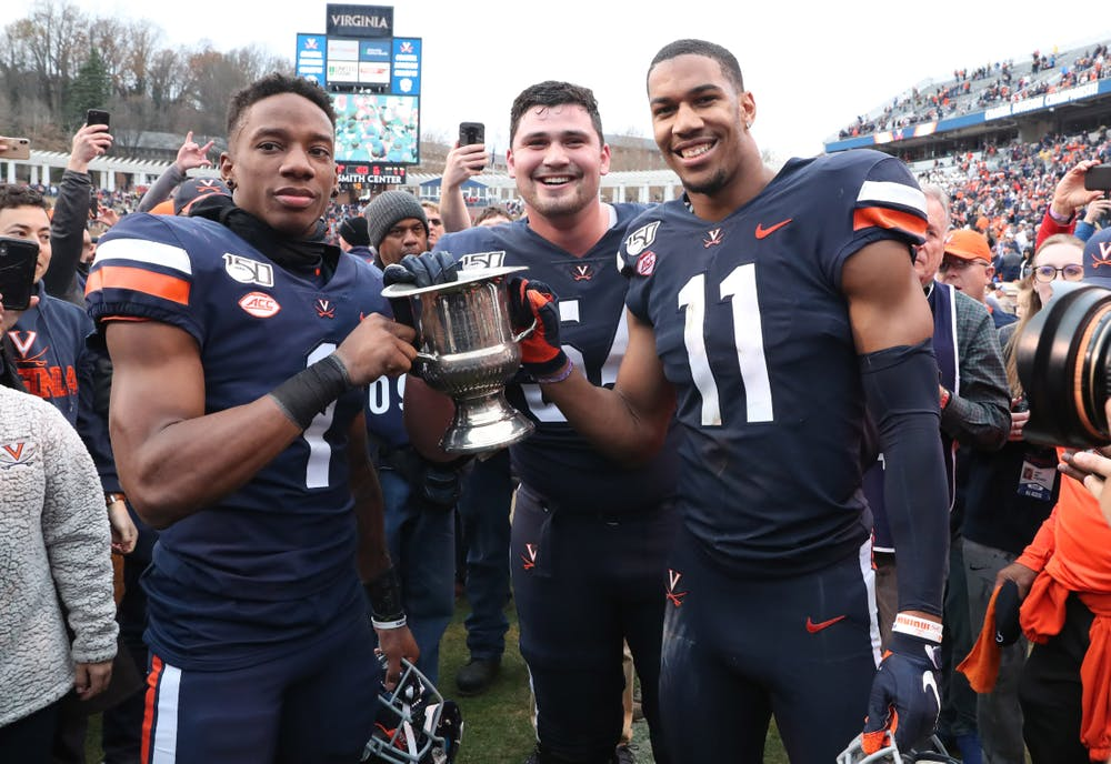 <p>Senior cornerback Nick Grant and senior outside linebacker Charles Snowden hope to secure the Commonwealth Cup one last time before leaving Grounds.&nbsp;</p>