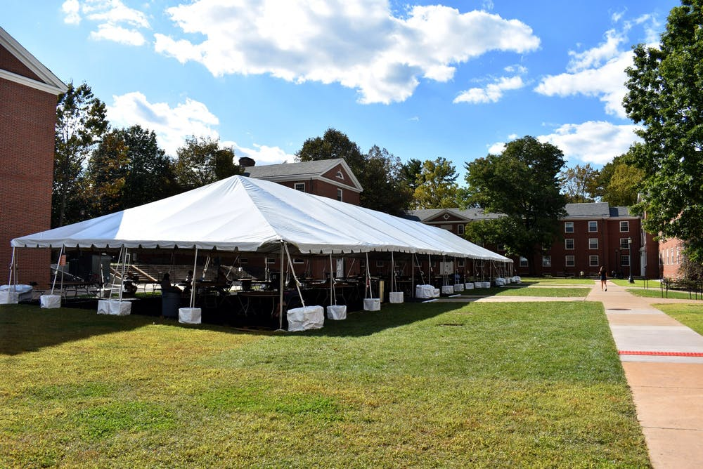 <p>The University has constructed nine tents throughout Grounds at various locations, costing approximately $650,000.</p>