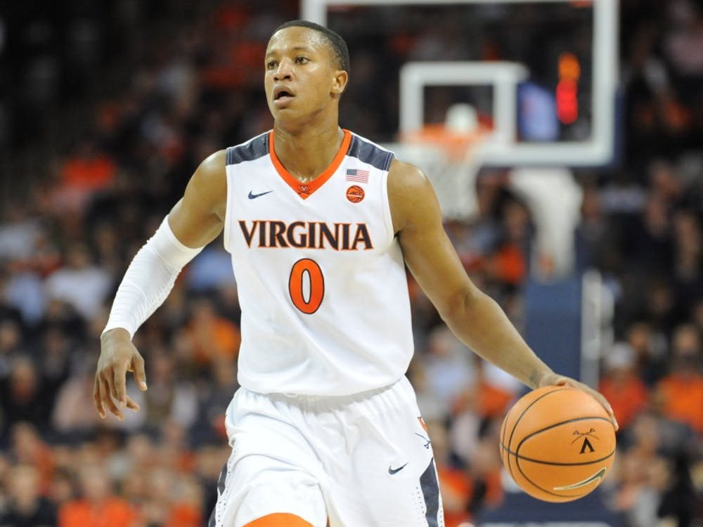 Virginia senior guard Devon Hall scored 17 points Wednesday night against Florida State.