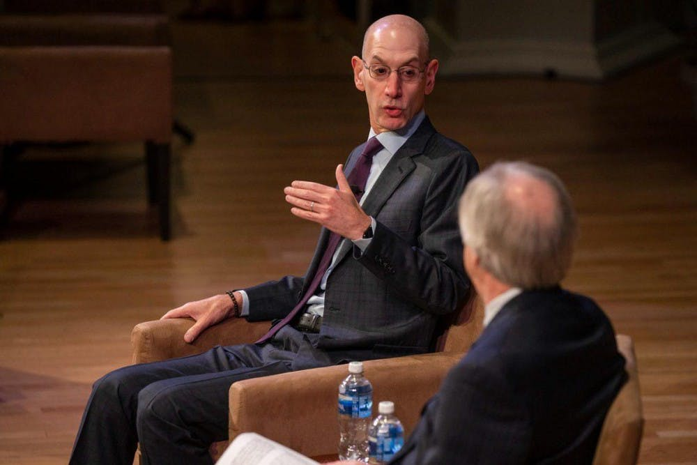 <p>One of the issues Adam Silver addressed in his conversation was the recent NBA dispute with China.</p>