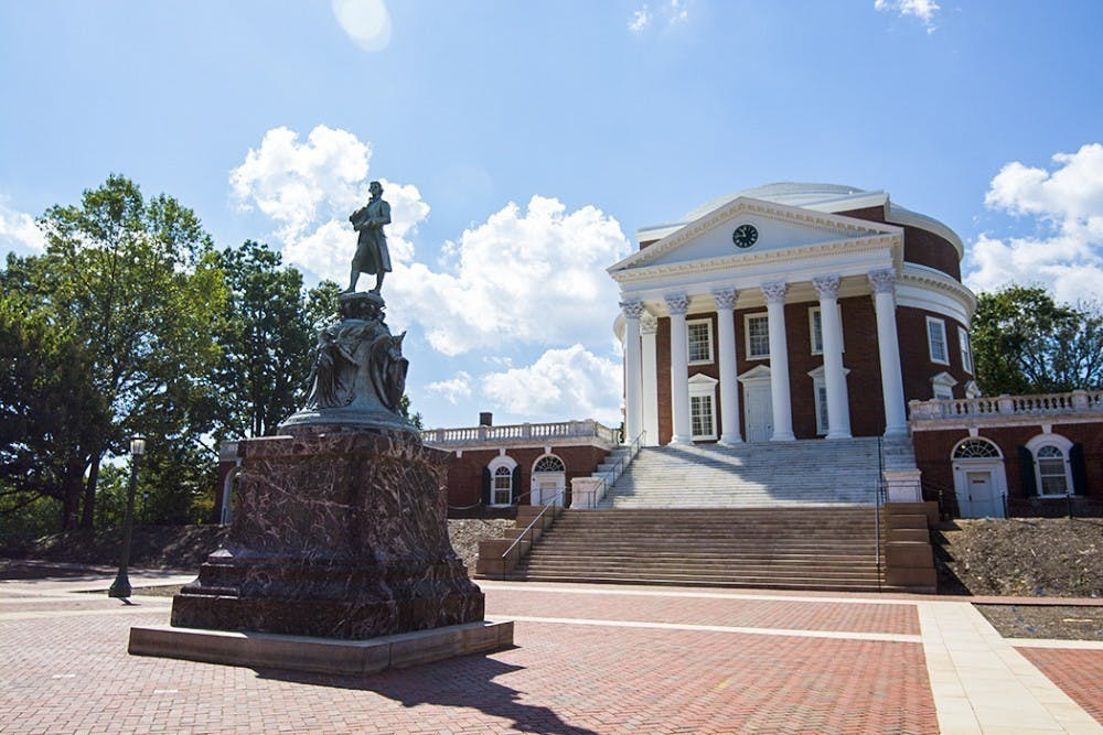 <p>The proposed resolution means that the statue of Thomas Jefferson in front of the Rotunda — as well as other statues and memorials located around Grounds — will likely be contextualized digitally.</p>