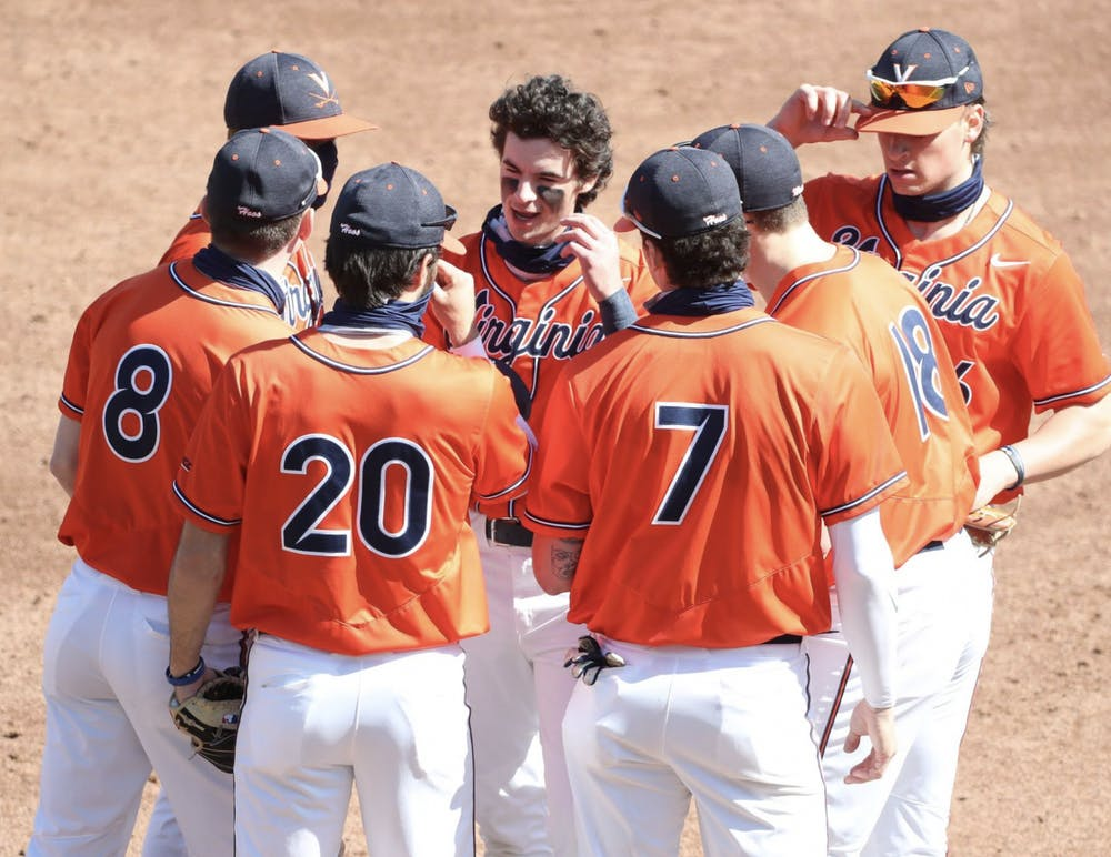 <p>Despite losing the game, the Virginia pitching squad combined to walk a season-high nine batters.</p>