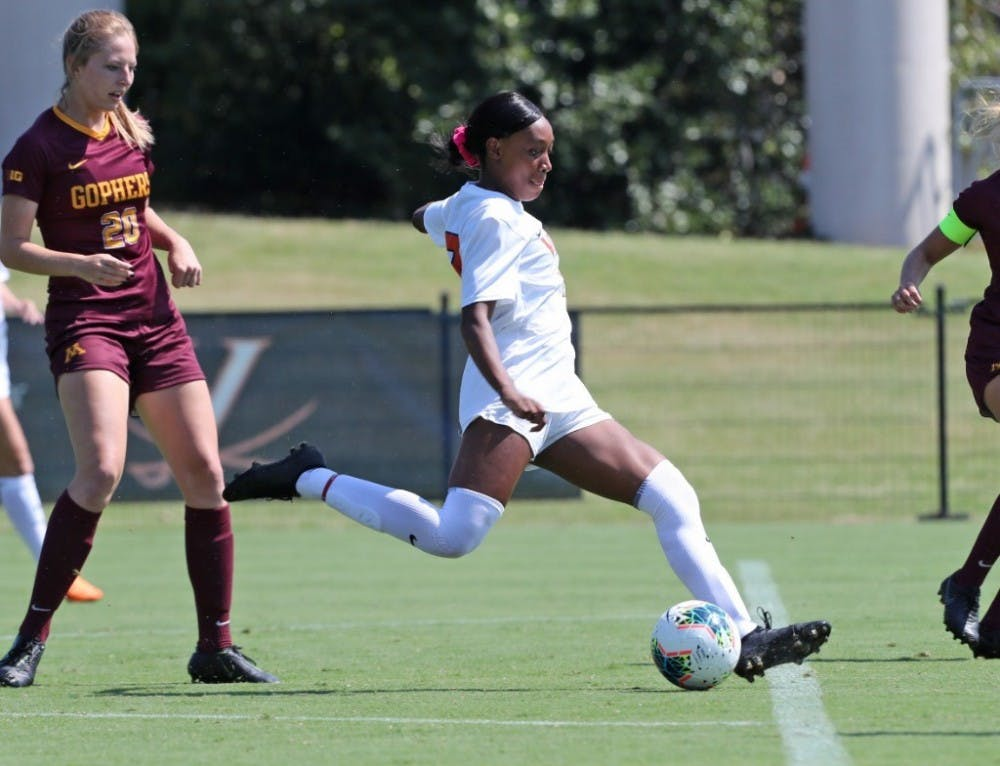 <p>Sophomore forward Rebecca Jarrett opened the scoring for the Cavaliers in the match against William &amp; Mary with two goals in under seven minutes.</p>