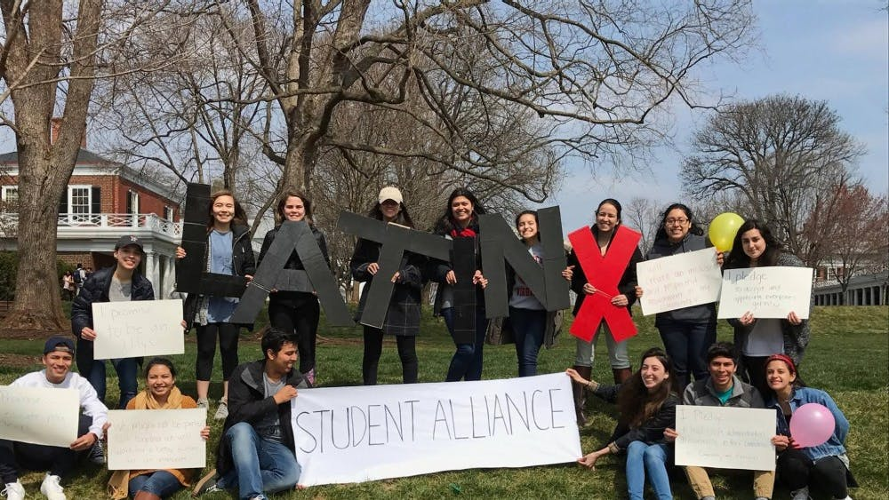 Students celebrating Hispanic Heritage Month last year, events for which Latinx Student Alliance organized as well.