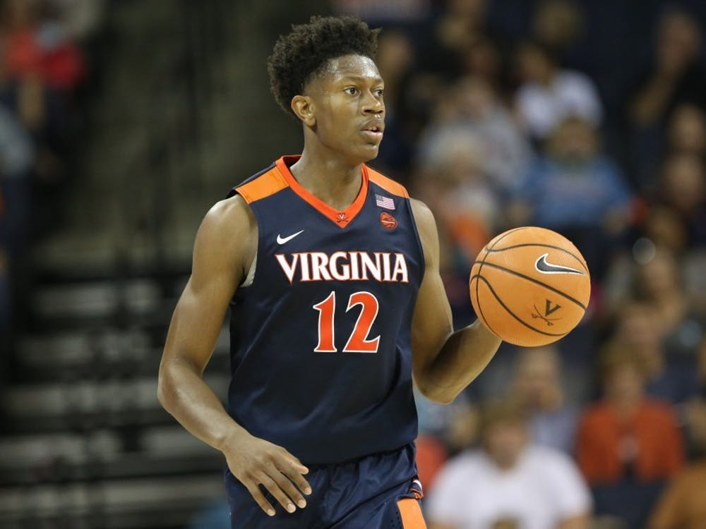Virginia redshirt freshman guard De'Andre Hunter had a game-high 22 points Tuesday night against Miami.