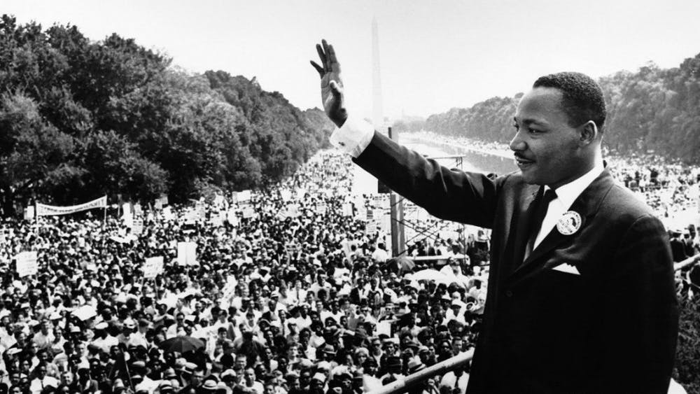 Dr. Martin Luther King Jr. at the March on Washington.