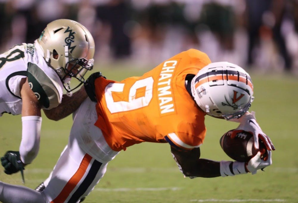 <p>Senior transfer wide receiver Terrell Chatman caught three passes for 44 yards and a touchdown against William &amp; Mary.</p>