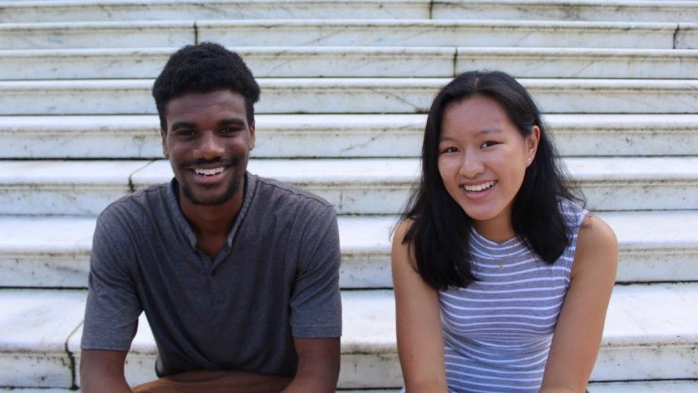 First Year Council President Denzel Mitchell (left) and Vice President Jennifer Lin (right)