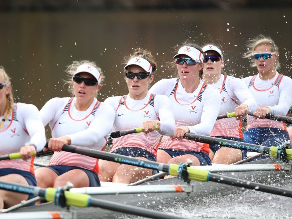 The Cavaliers finished in fifth place in their first regatta of the season.