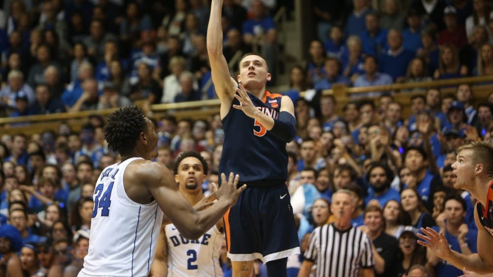 Sophomore guard Kyle Guy led Virginia with 17 points in the team's 65-63 victory over Duke.