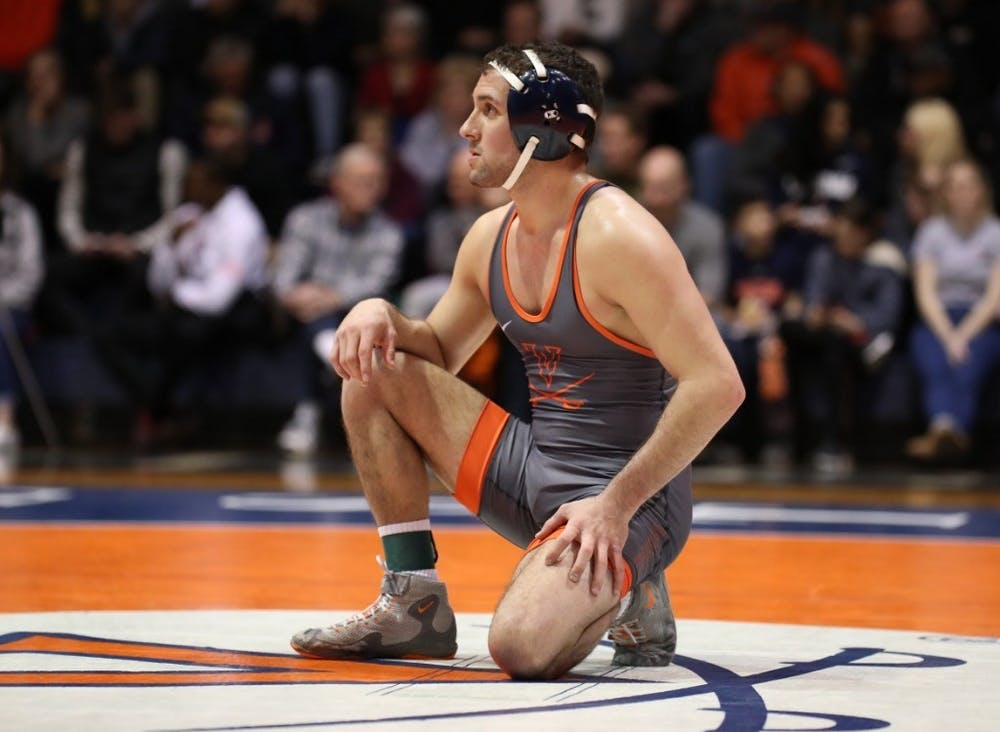 <p>Eight of 10 Virginia wrestlers fell to their NC State opponents.</p>