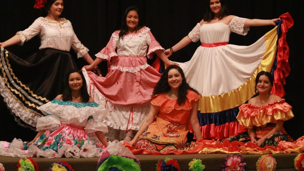 The first portion of the Cultura Showcase was a display of traditional Colombian dresses, handmade by third-year College student and Student Director of the Multicultural Center Natalie Romero's grandma.