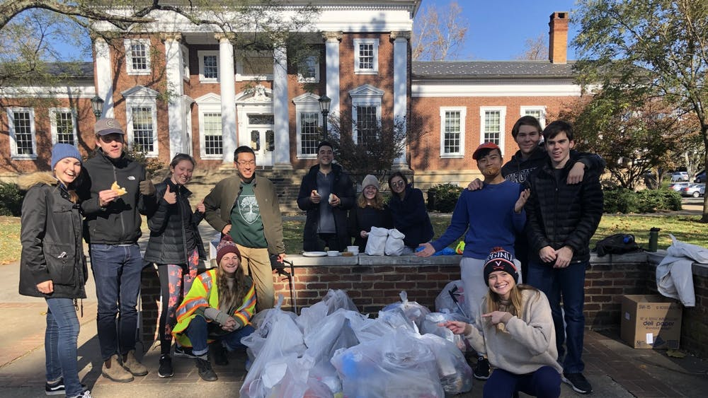 Students came from every class and with different interests in majors, but they all came together for the same purpose — to support the cleanliness and sustainability of Grounds at U.Va.