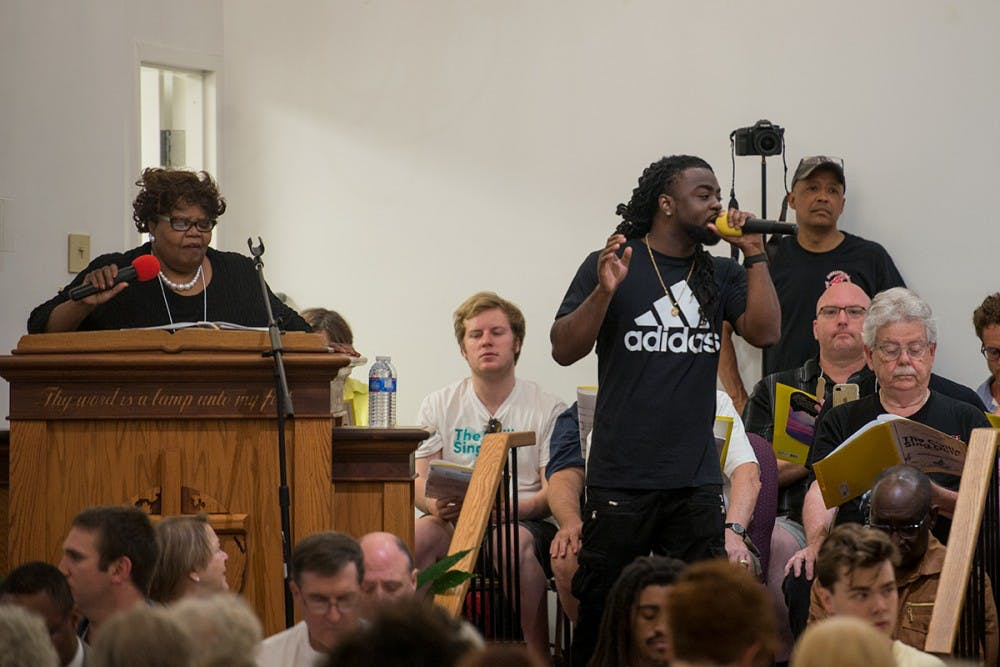 """<p>The """"C'ville Sing Out"""" was held at Mt. Zion First African Baptist Church Sunday afternoon.&nbsp;</p>"""