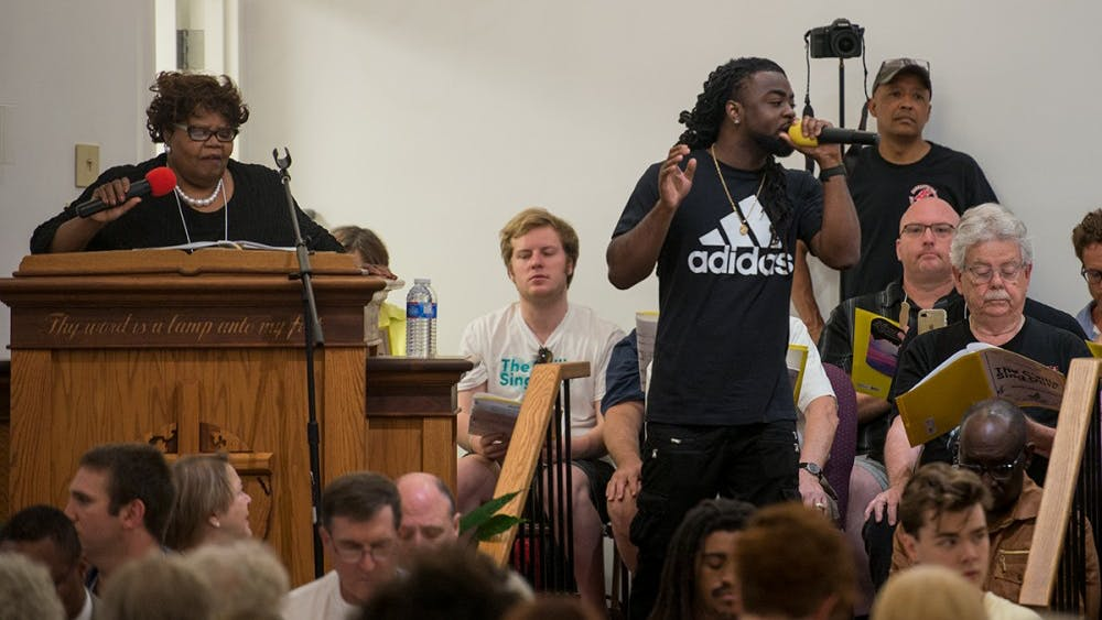"The ""C'ville Sing Out"" was held at Mt. Zion First African Baptist Church Sunday afternoon."