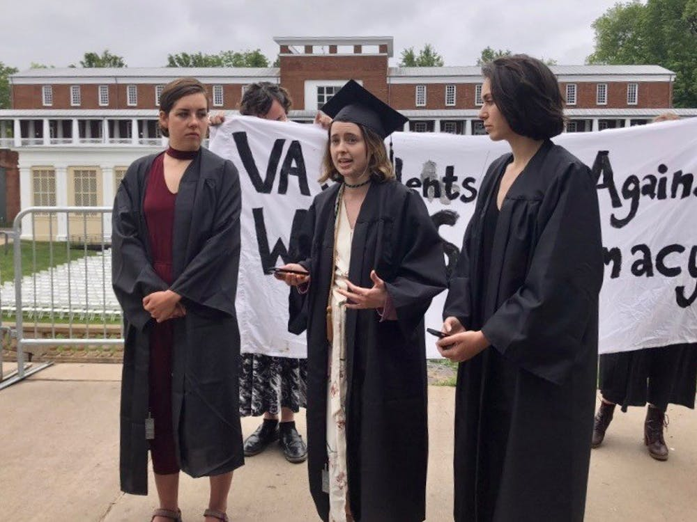 The three graduating students said they felt the University did not adequately respond to the white supremacist rallies of last August.