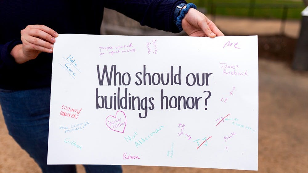 """The theme for Monday's tour was """"Who should our buildings honor?"""""""