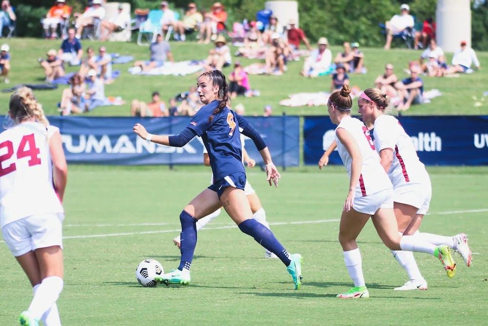 <p>Junior forward Diana Ordoñez has been instrumental to the team's success, netting eight goals.&nbsp;</p>