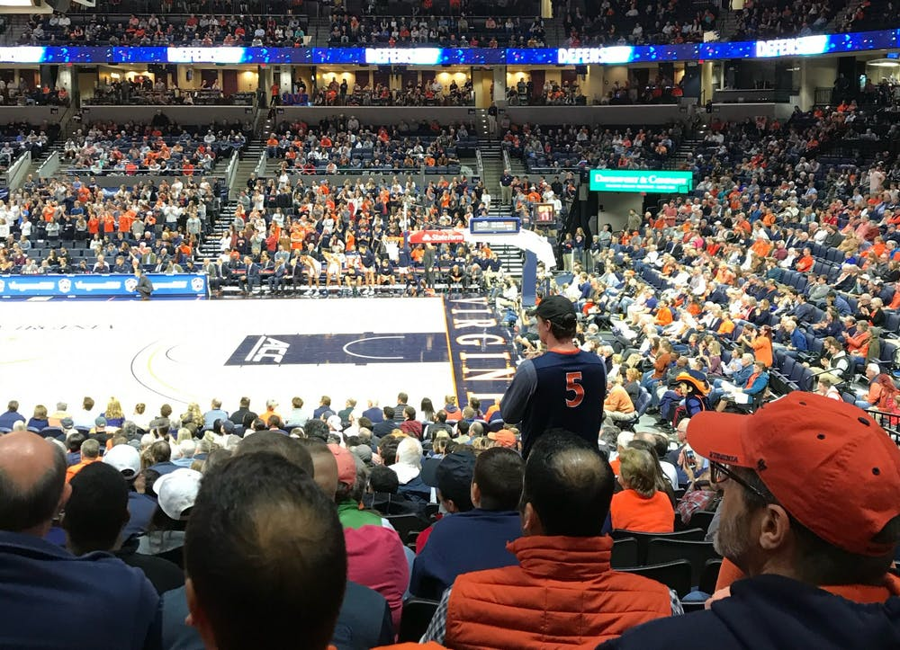 <p>Ellington is a lifelong Virginia sports fan and has attended numerous games like the men's basketball team's meeting with Marshall in 2018.</p>
