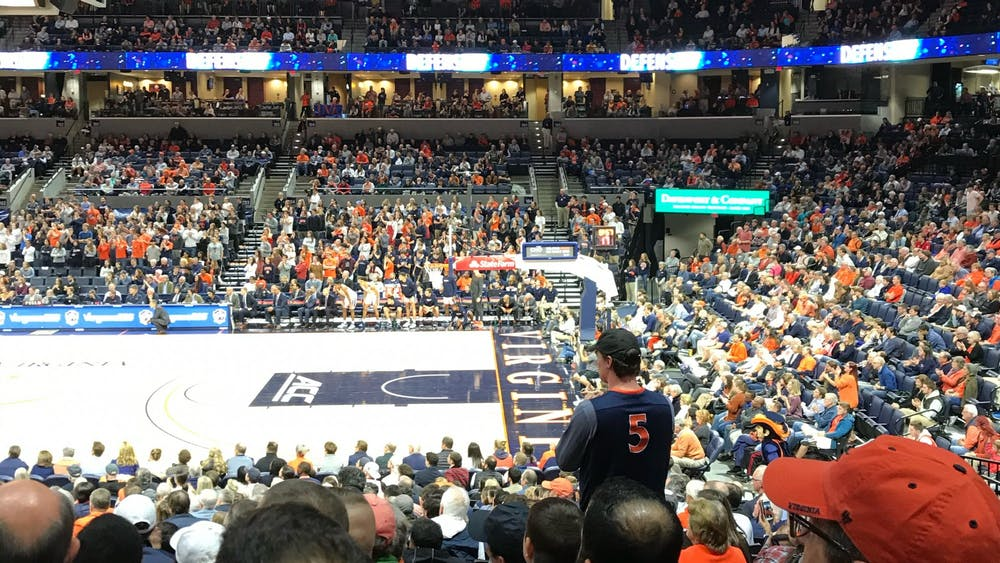 Ellington is a lifelong Virginia sports fan and has attended numerous games like the men's basketball team's meeting with Marshall in 2018.