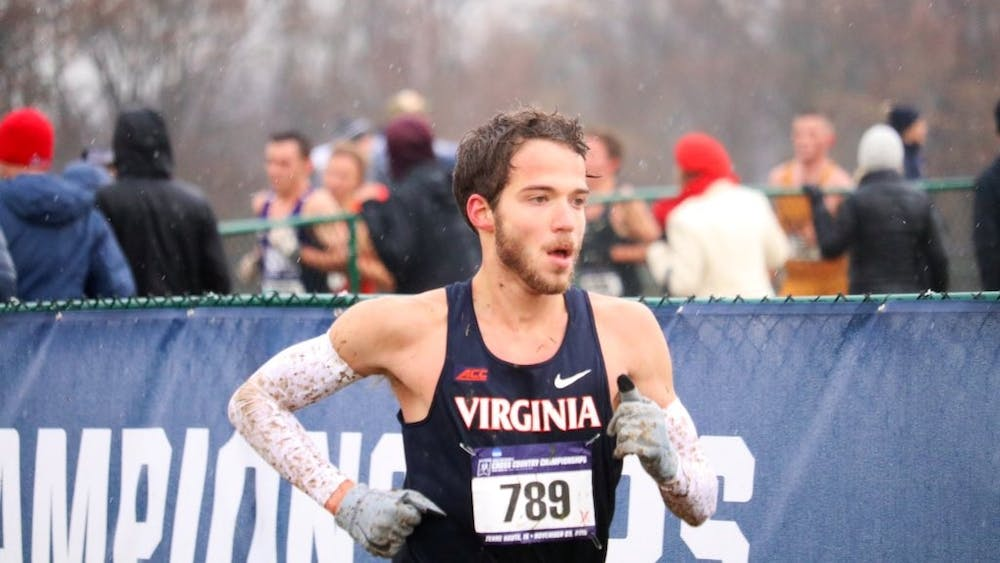 Senior Alex Corbett finished 57th overall in the 10k race, posting a time of 31:33.9.