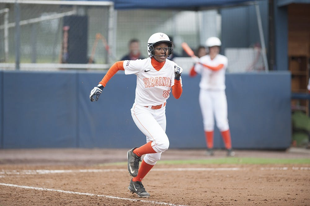 <p>Sophomore right fielder Iyana Hughes supplied Virginia's offense in the opening game, launching a fifth-inning grand slam.</p>
